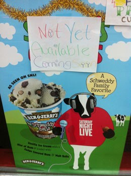 The Ben & Jerry's in the Delmar Loop -- sadly, no Schweddy Balls. - CHRISSY WILMES