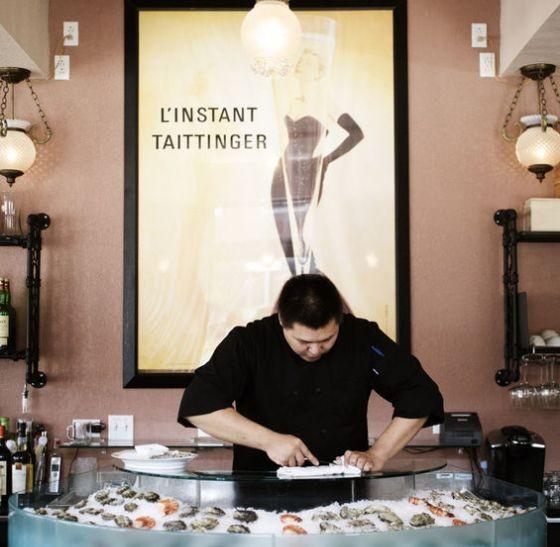 DeMun Oyster Bar's raw bar.   Jennifer Silverberg