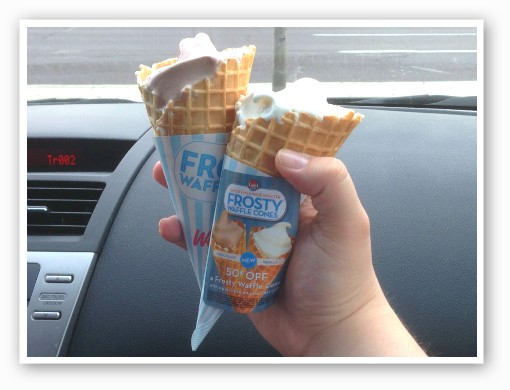 Wendy's chocolate and vanilla Frosty waffle cones. | RFT photo