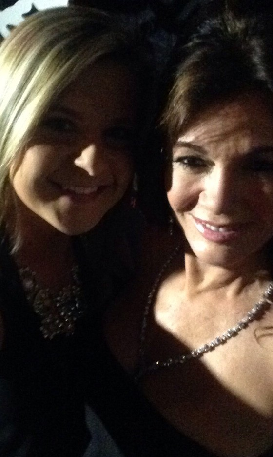 Dina got a coveted selfie with Lisa.   Dina Imsirevic