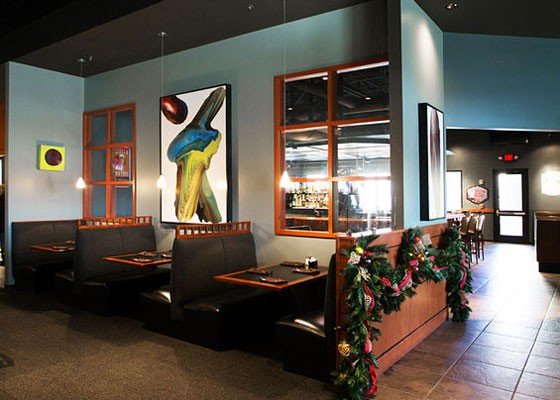 The spacious dining room at Eleven65.   Jennifer Silverberg