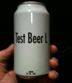 """Actual test can of """"Lime-Rita""""."""