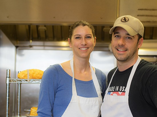Agi and Aaron Groff in their St. Charles bakeshop.