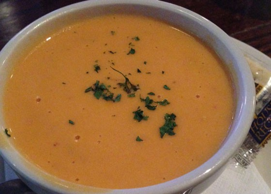 The lobster bisque at Three Kings. | Nancy Stiles