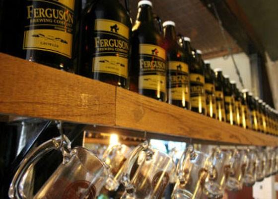 Growlers at Ferguson Brewing Company.   Pat Kohm