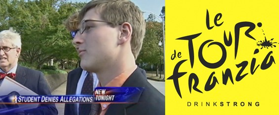 """Alexander """"Xander"""" Broughton, Pi Kappa Alpha fraternity brother at the University of Tennessee, says he wasn't butt-chugging the cheap boxed wine that sent him to the hospital with a blood alcohol level of 0.448. Broughton maintains he was prepping for a Tour de Franzia, a stunt that also involves consuming bad wine, but the right-side-up way."""