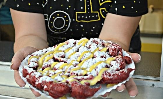 RED VELVET FUNNEL CAKE | MISSOURI STATE FAIR