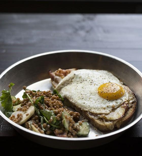 "The ""Strammer Max"" sandwich at Urban Chestnut. | Jennifer Silverberg"