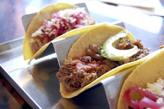 Mission Taco Joint's beef brisket birria taco.   Cheryl Baehr