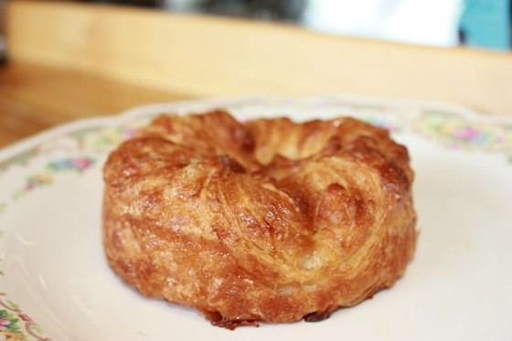 The salted caramel croissant at Pint Size Bakery. | Cheryl Baehr