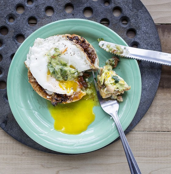 Chorizo and egg sope at Spare No Rib. | Jennifer Silverberg