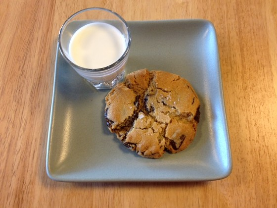 Comet Coffee's chocolate chip cookie with milk, of course.   Cheryl Baehr