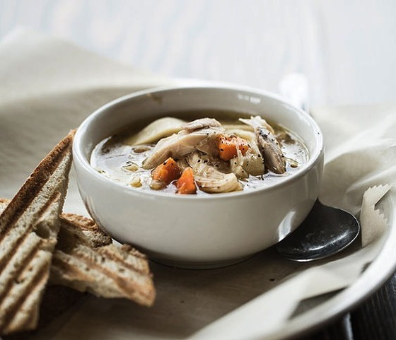 Housemade chicken noodle soup from Grove East Provisions   Jennifer Silverberg