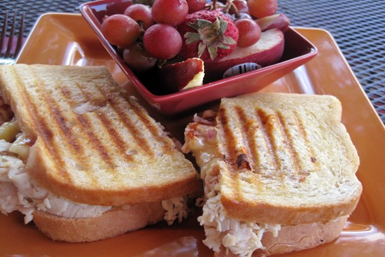 "The ""Memphis Blues"" turkey panini. - KRISTIE MCCLANAHAN"