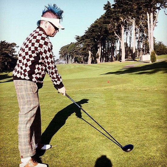 Nofx's Fat Mike hits the links.