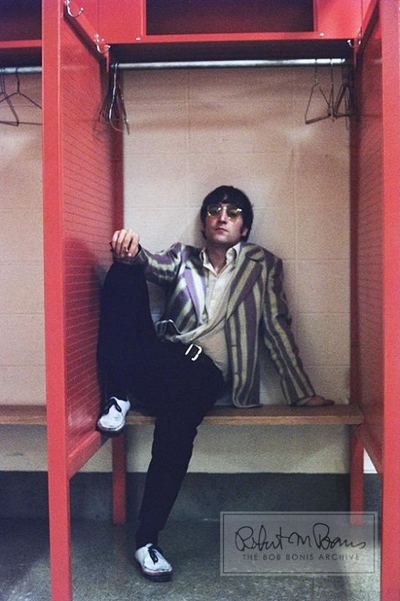 A too-cool John Lennon, chillin' backstage at Busch Stadium in 1966. - PHOTO BY BOB BONIS/COURTESY OF EBAY/EDELMAN PUBLIC RELATIONS