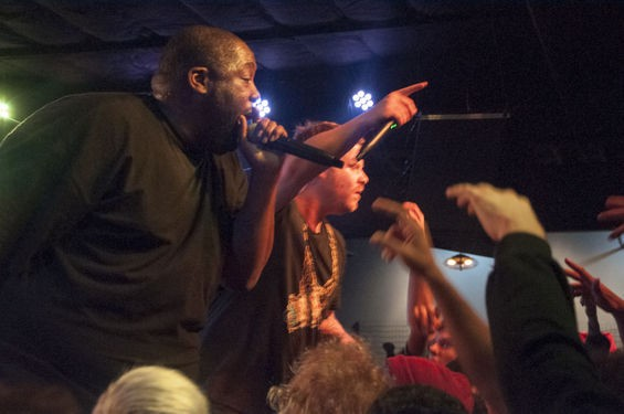 Run the Jewels, performing in St. Louis. - PHOTO BY MICAH USHER. VIEW OUR COMPLETE SLIDESHOW HERE.