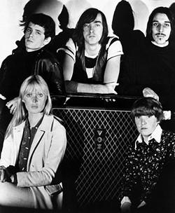 A 1966 Velvet Underground press shot. Moe Tucker is on the bottom right.