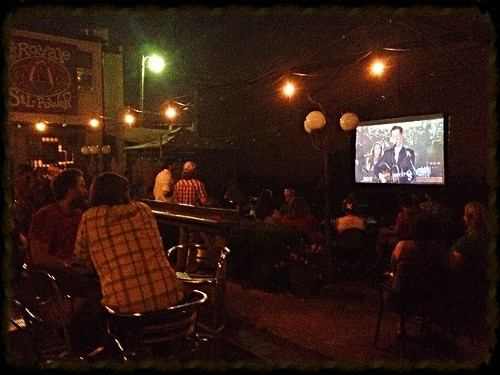 "Pokey Lafarge on David Letterman in the courtyard of The Royale (adjacent to the Royale's ""STL POWER"" sign) - JAIME LEES"