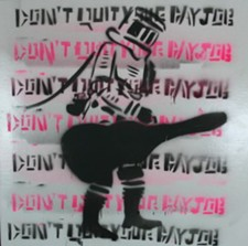 A Jenn Derose stencil for one of the Don't Quit Your Day Job album covers. - CHRISSY WILMES