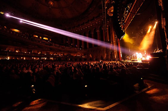 During Mark Knopfler's performance last night at the Fabulous Fox Theatre. View a slideshow from Mark Knopfler's concert last night at the Fox. - PHOTO: TODD OWYOUNG