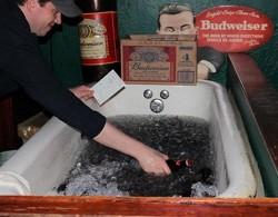 Bathtub Bud: Jack Patrick's ice-cold beer.