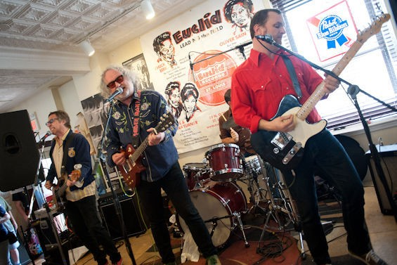 The Minus 5 performing at Euclid Records. - JON GITCHOFF