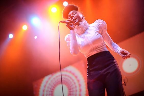 Janelle  Monáe opening for Of Montreal at the Pageant. - TODD OWYOUNG