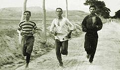 The Olympic marathon in 1896. Things aren't so primitive now. - WIKIMEDIA COMMONS