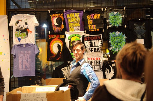 Story of the Year merch last night at Suite 100, adjacent to the Pageant. See the full slideshow from last night here. - PHOTO: TODD OWYOUNG