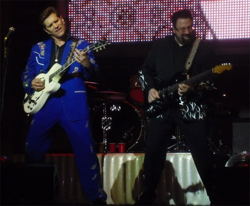 Dueling sequined guitarists at the Pageant