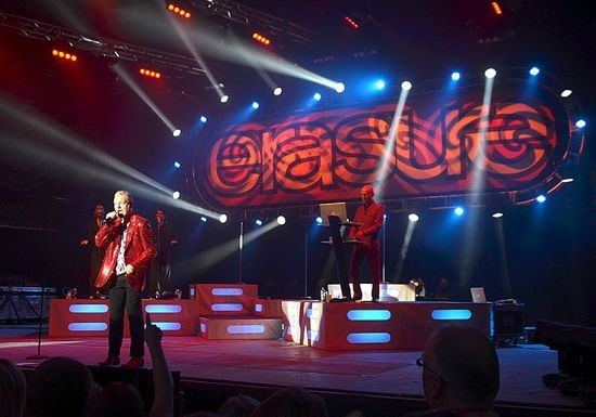 ERASURE PERFORMING EARLIER THIS SUMMER.