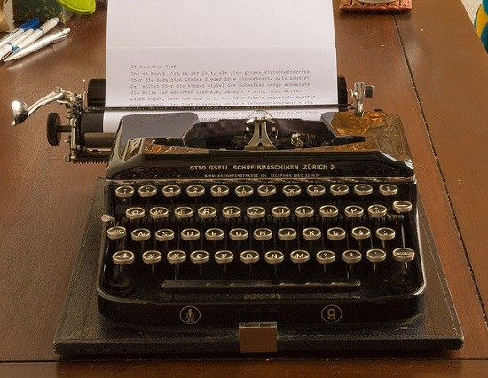 """Ideally you would at least have a typewriter, though I hear really good things about these """"com-poo-ters"""" the kids are all using. - DR. SHORDZI/FLICKR"""