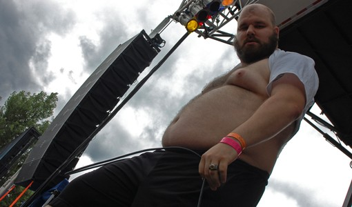 Fucked Up singer Pink Eyes at Pitchfork Music Festival.