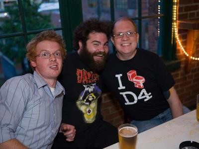 Eric from Bunnygrunt (left) and two members of The Humanoids. View full slideshow here. - STEW SMITH