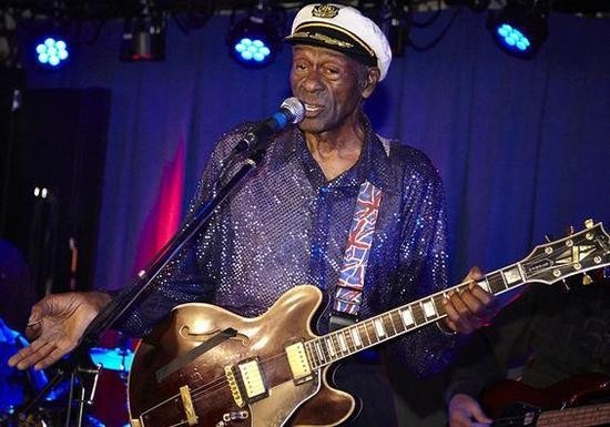 Chuck Berry addresses the crowd during an October 2013 show at Blueberry Hill. - STEVE TRUESDELL
