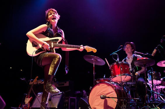 THOSE DARLINS AT THE PAGEANT IN FEBRUARY. PHOTO BY JON GITCHOFF.