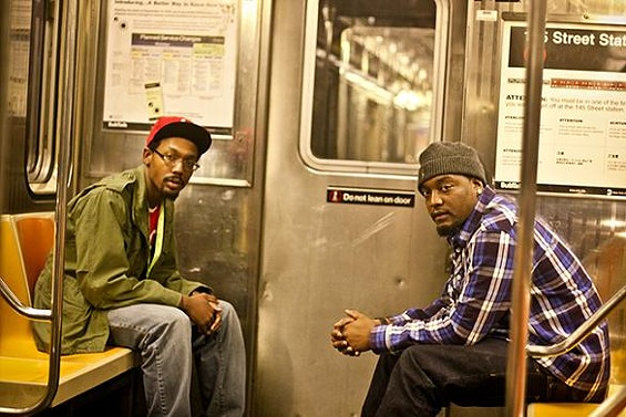 Scripts 'n Screwz on the subway. - JERRIME ROGERS, DAMON DAVIS