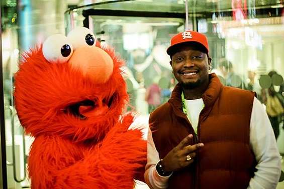 Who knew Elmo was the exact same shade as Cardinals red? - JERRIME ROGERS, DAMON DAVIS