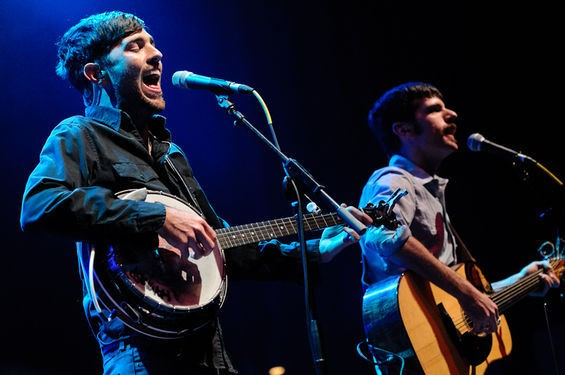 The Avett Brothers in September 2010 at the Pageant. - JASON STOFF