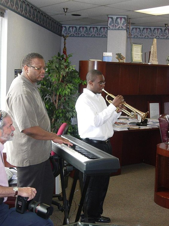 Pianist Reggie Thomas and trumpeter Brady Lewis - CHRISTIAN SCHAEFFER