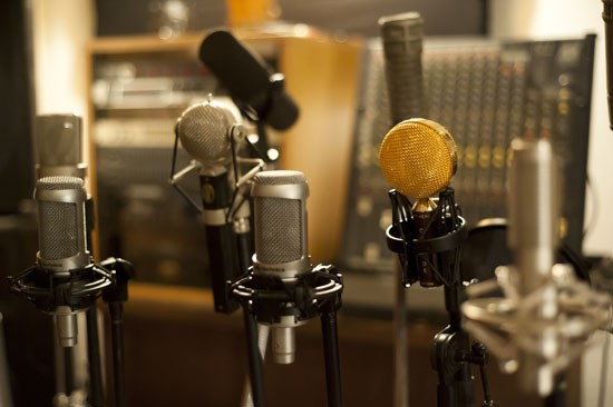 A closer look at the classic microphones. - KHOLOOD EID