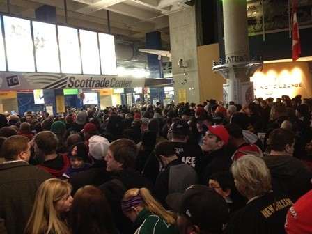 This is what the Scottrade Center looked like during January's Royal Rumble. Since Radiohead's show is sold out, concertgoers should plan accordingly. - JASON ROSENBAUM PHOTO