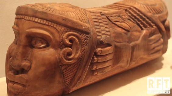 One of many world instruments on display at the Sheldon. - SCREENSHOT FROM THE VIDEO BY SADIYYAH RICE.