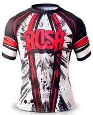 """The Rush """"Explosion Running Shirt"""" was not spotted Saturday night. But it is awesome."""