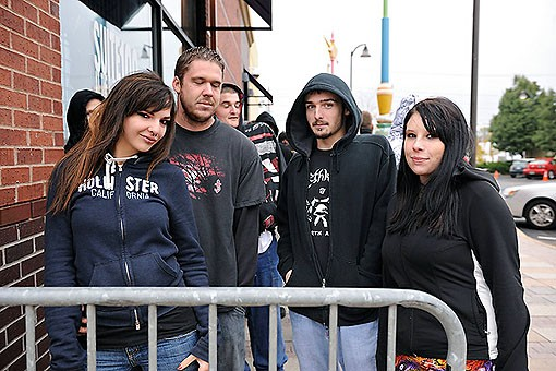 Fans lined up outside the Pageant before the show. See more photos from last night's show. - PHOTO: TODD OWYOUNG