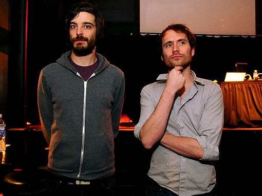 Walsh and Borcherdt, pre-show. - PHOTO: EGAN O'KEEFE