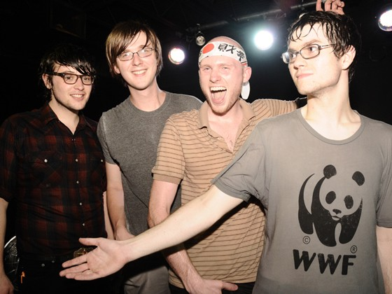 So Many Dynamos in 2009, after the record release show at the Firebird for The Loud Wars. Kay (second from left) and Wasoba (far right) have since left the band. - EGAN O'KEEFE