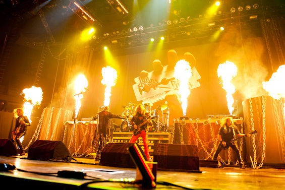 Judas Priest returns to the Family Arena in May. Check out more photos from the band's 2011 concert in RFT Slideshows. - PHOTO BY JON GITCHOFF