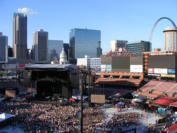 The scene last night at Busch Stadium before the Eagles/Dixie Chicks show - KATIE MOULTON